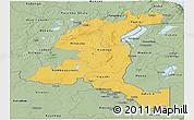 Savanna Style Panoramic Map of Haut-Shaba