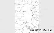Blank Simple Map of Haut-Shaba