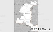 Gray Simple Map of Haut-Shaba