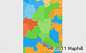 Political Shades Simple Map of Haut-Shaba