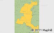 Savanna Style Simple Map of Haut-Shaba