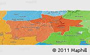Political Shades Panoramic Map of Kolwezi