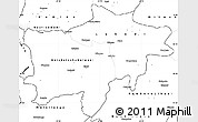 Blank Simple Map of Kolwezi
