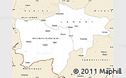 Classic Style Simple Map of Kolwezi