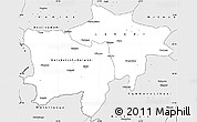 Silver Style Simple Map of Kolwezi