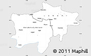 Silver Style Simple Map of Kolwezi, single color outside