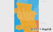 Political Shades Map of Lualaba