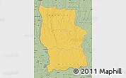 Savanna Style Map of Lualaba