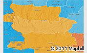 Political Shades Panoramic Map of Lualaba