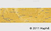 Physical Panoramic Map of Sandoa