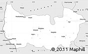 Silver Style Simple Map of Sandoa