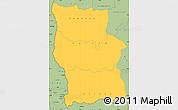 Savanna Style Simple Map of Lualaba