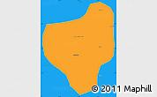 Political Simple Map of Lubumbashi