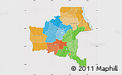 Political Map of Shaba, cropped outside