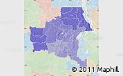 Political Shades Map of Shaba, lighten