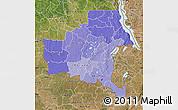 Political Shades Map of Shaba, satellite outside
