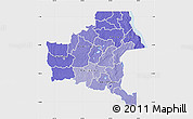 Political Shades Map of Shaba, single color outside