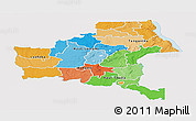 Political Panoramic Map of Shaba, single color outside