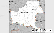 Gray Simple Map of Shaba
