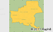 Savanna Style Simple Map of Shaba, cropped outside