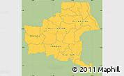 Savanna Style Simple Map of Shaba, single color outside