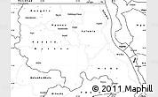 Blank Simple Map of Tanganika