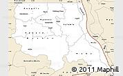 Classic Style Simple Map of Tanganika