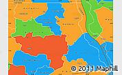 Political Simple Map of Tanganika