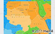 Political Shades Simple Map of Tanganika