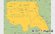 Savanna Style Simple Map of Tanganika