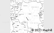 Blank Simple Map of Democratic Republic of the Congo