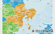 Political Shades Map of Arhus