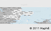 Gray Panoramic Map of Arhus