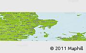 Physical Panoramic Map of Arhus