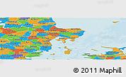 Political Panoramic Map of Arhus