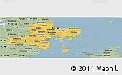 Savanna Style Panoramic Map of Arhus