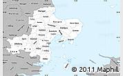 Gray Simple Map of Arhus