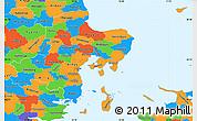 Political Simple Map of Arhus
