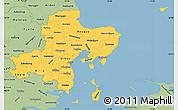 Savanna Style Simple Map of Arhus