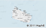 Gray 3D Map of Bornholm