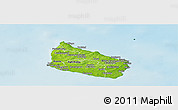 Physical Panoramic Map of Allinge-Gudhjem