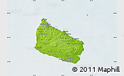 Physical Map of Bornholm, lighten