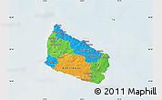 Political Map of Bornholm, lighten