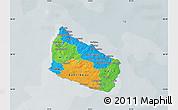Political Map of Bornholm, semi-desaturated