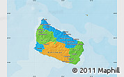 Political Map of Bornholm, single color outside