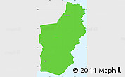 Political Simple Map of Nexo, single color outside