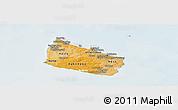 Political Shades Panoramic Map of Bornholm, lighten