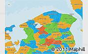 Political 3D Map of Frederiksborg