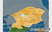 Political Shades 3D Map of Frederiksborg, darken