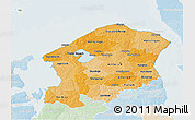 Political Shades 3D Map of Frederiksborg, lighten